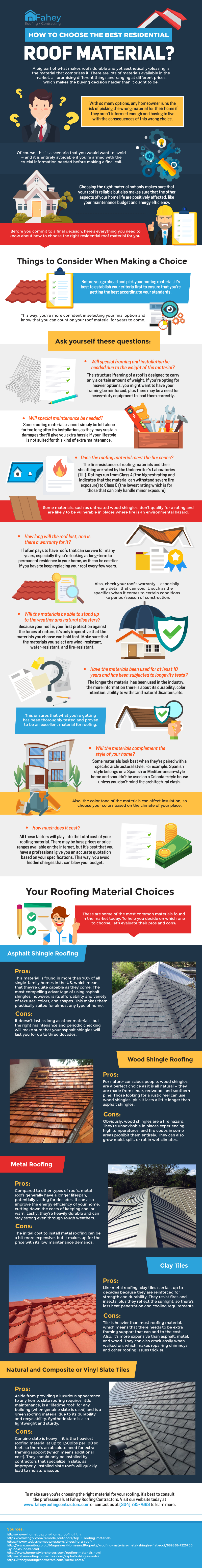 How to Choose the Best Residential Roof Material? [Infographic]