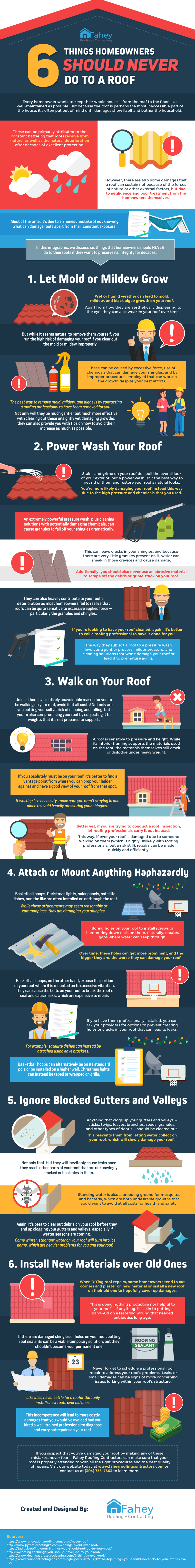 6 Things Homeowners Should Never Do To A Roof [Infographic]